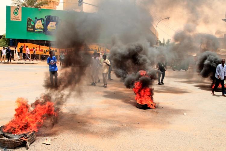 تفريق مظاهرات في السودان
